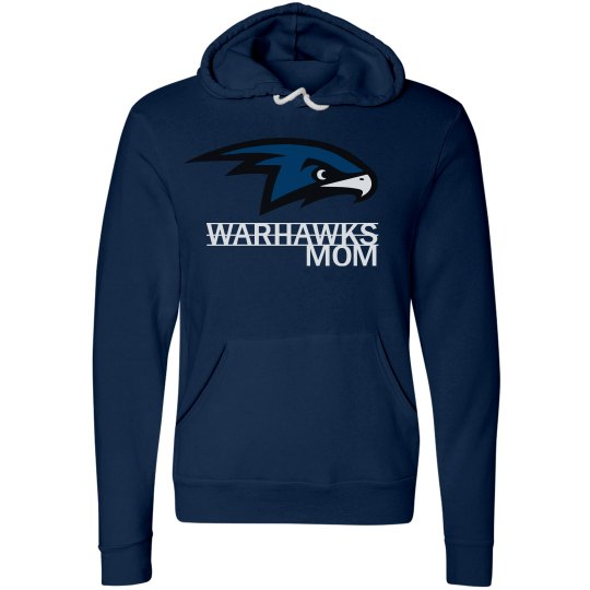 Warhawks Mom with Name and Number Hoodie