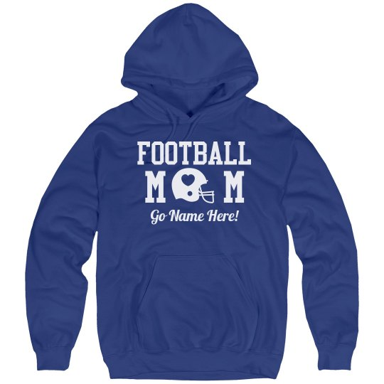 Warm Football Mom Custom Fleece Hoodie!
