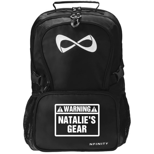 Warning Cheer Gear Black Nfinity Backpack