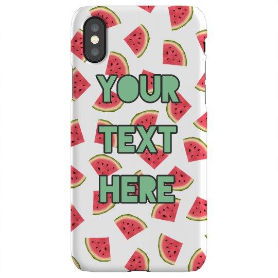 Watermelon Custom Text Case