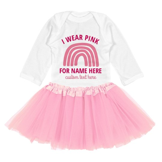 We Wear Pink For Baby Tutu Set