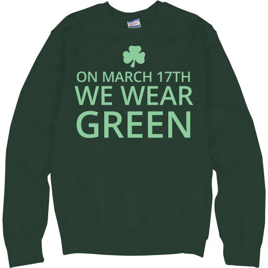 Wear Green Shamrock