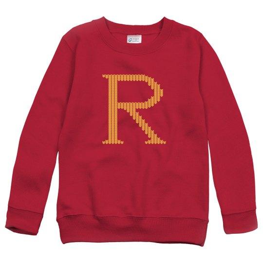 Weasley Wizard Youth Knit-Print Sweaters