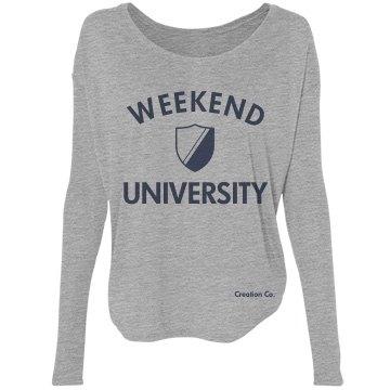 weekend university tee