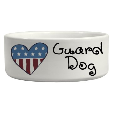 Whimsical Patriotic Heart Guard Dog