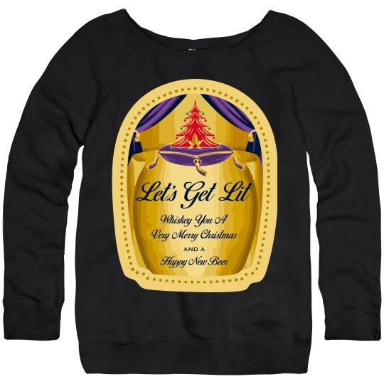 Whiskey Pun Christmas Sweater