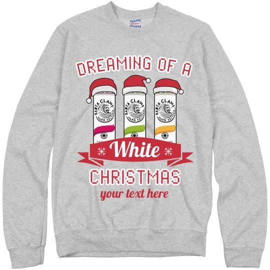 White Christmas Custom Seltzer Sweater