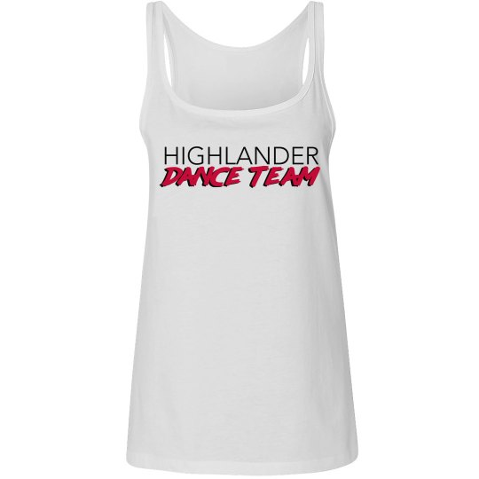 White HDT relaxed fit tank