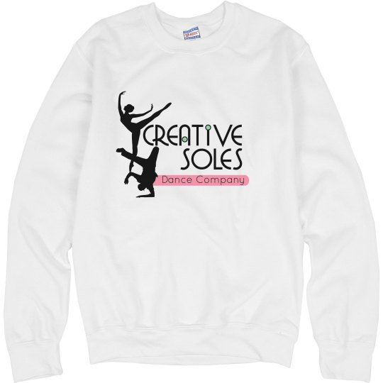 White Logo Crewneck Sweatshirt