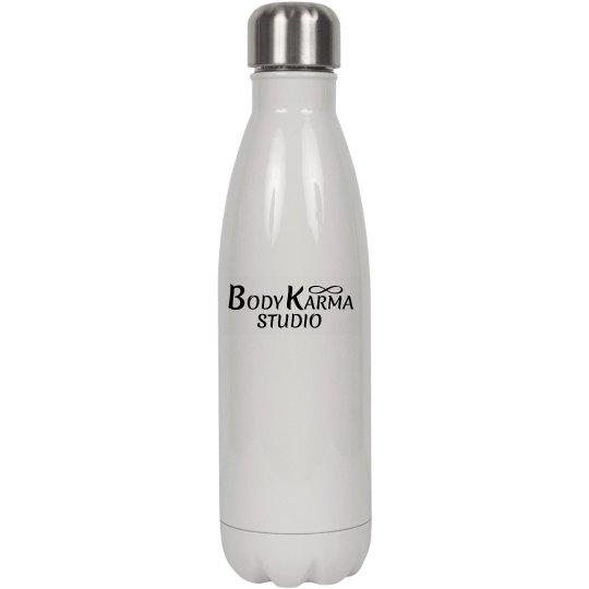 White Logo Water Bottle