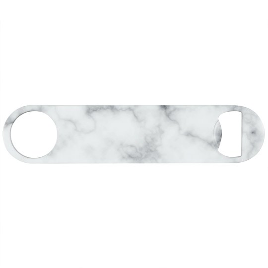 White Marble Print Bottle Opener