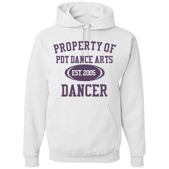 White PDT Property Hoodie