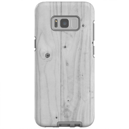 White Wood Print Galaxy Plus Case