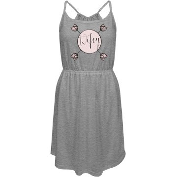 Wifey - Junior Fit District Strappy Dress