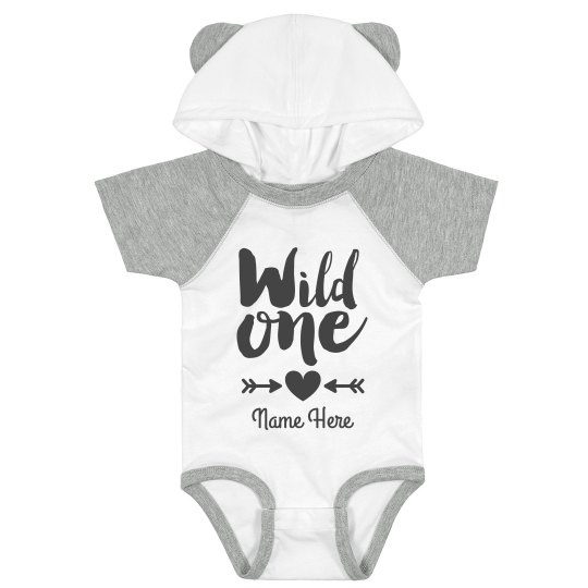 Wild One Cutest Custom Baby Bodysuit