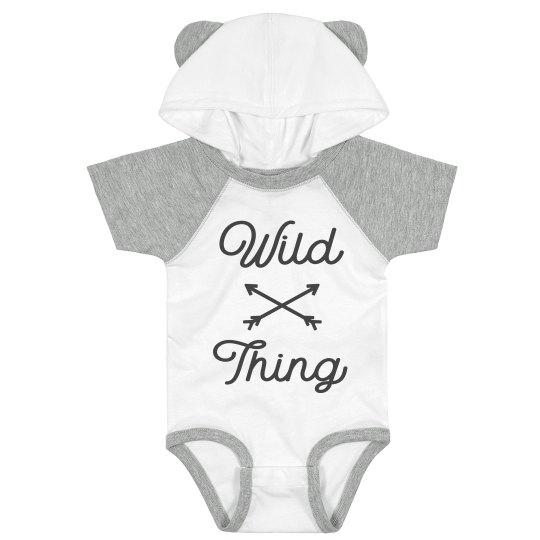 Wild Thing Cutest Hood & Ears Bodysuit