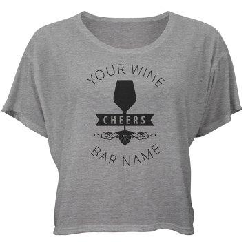 Wine Bar Glass Scroll