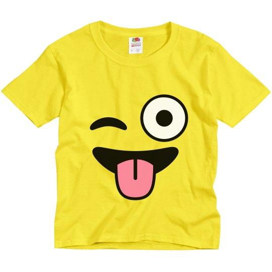 Wink Emoji Kids Halloween Costume