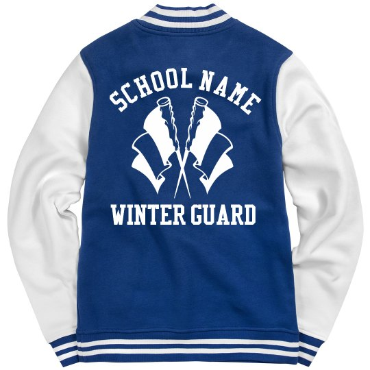 Winter Guard Girl Custom Varsity Jacket With Name