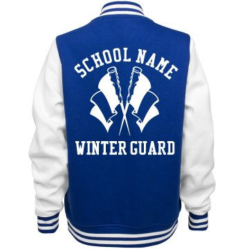 Winter Guard Girl Custom Varsity Jacket With Name