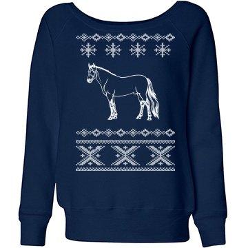 Winter Horse Sweater