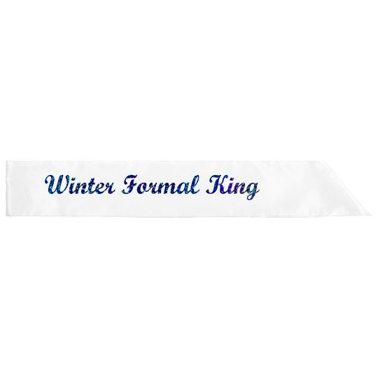 Winter King With Glitter Text