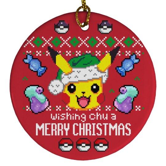 Wishing Chu A Merry Xmas Ornament