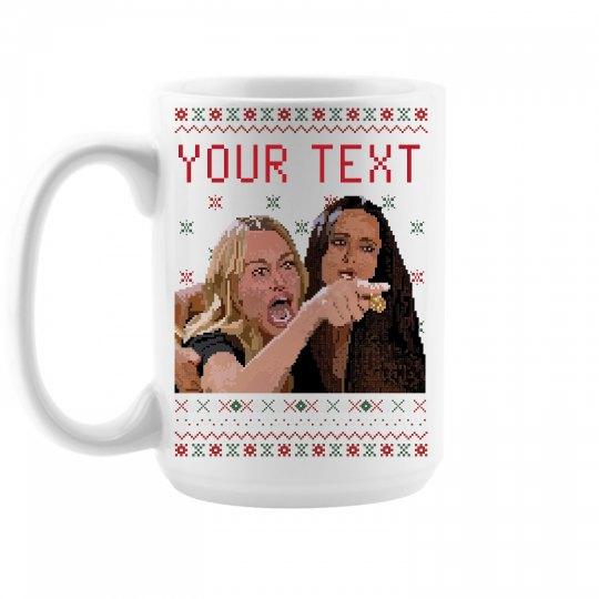 Woman Yelling Pixel Mug