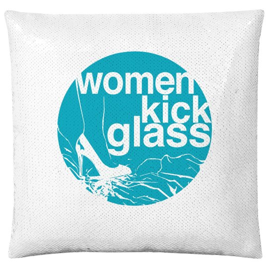 Women Kick Glass accent pillow