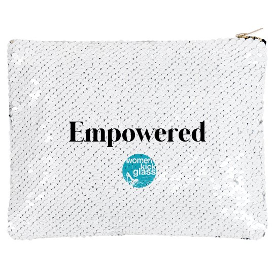 Women Kick Glass Empowered Makeup Bag