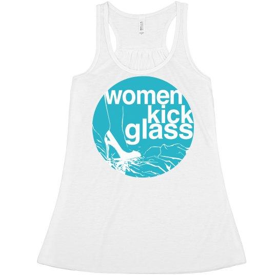 Women Kick Glass Logo Flowy Racer Back