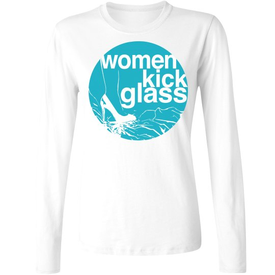 Women Kick Glass Logo Long Sleeve Tee
