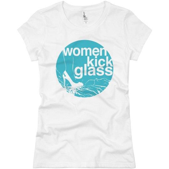 Women Kick Glass Logo Tee
