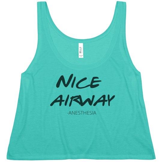 Women's Crop Tank- Nice Airway