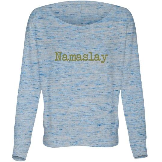 "Women's flowy off the shoulder ""Nama-slay"" tee"