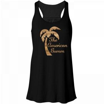 Women's Metallic The American Bumm Palm Tree Tank