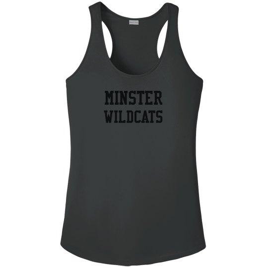 women's minster wildcats - fitness tank