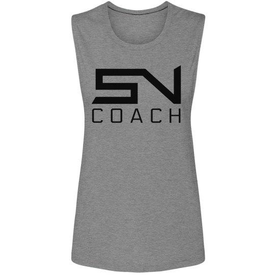 Women's SN Coach Logo Tank (Gray)