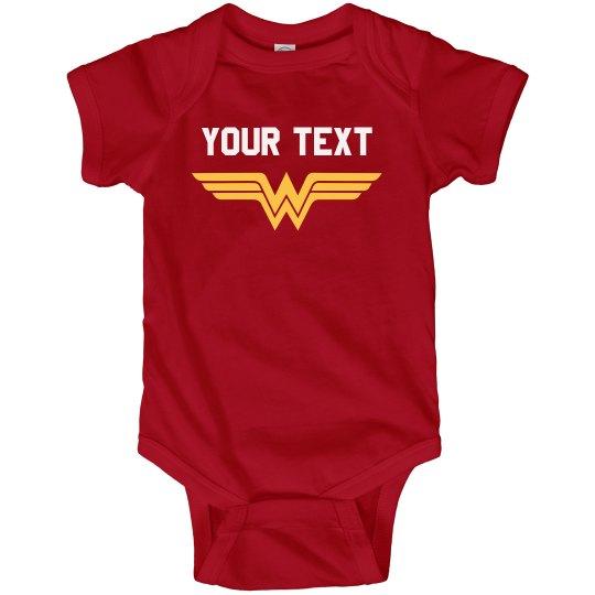 Wonder Woman Parody Baby Bodysuit