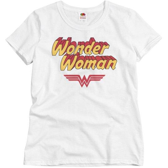 Wonder Woman Parody Vintage Tee