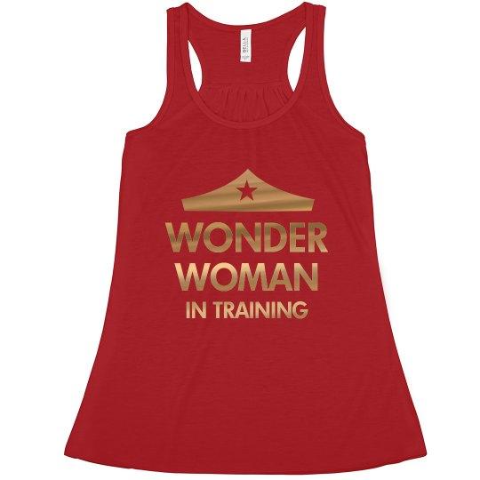 Wonder Woman Workout Metallic Tank