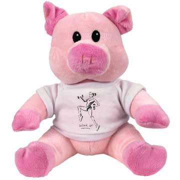 Work it - Small Plush Pink Piggie