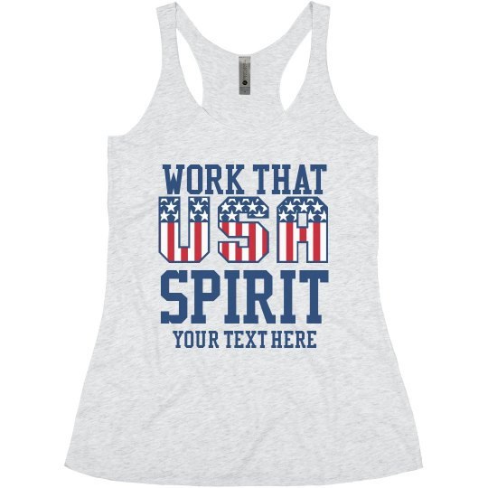 Work Your Spirit Custom Text