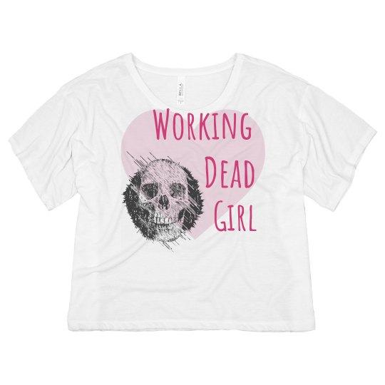 Working Dead Girl Crop Tee