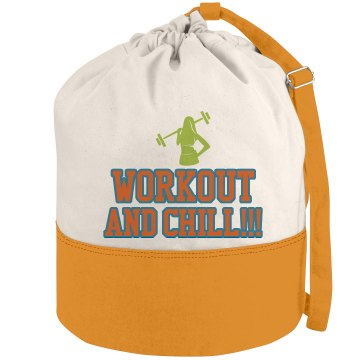 Workout and Chill Duffel-Aqua/Lime/Orange