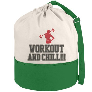 Workout and Chill Duffel-Red