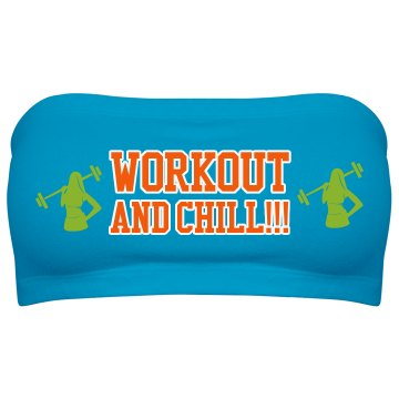 Workout and Chill Top-Aqua/Lime/Orange