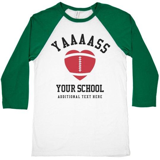 YAAASS Custom Football