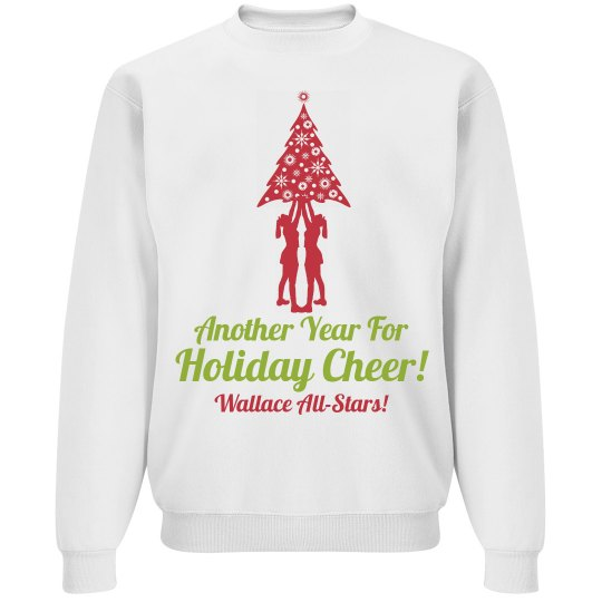 Year of Holiday Cheer Cheerleader Christmas Sweater