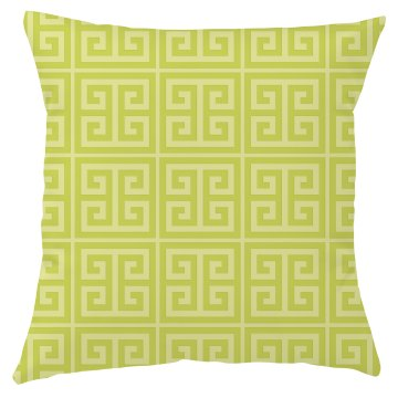Yellow Greek Key Pattern Throw Pillow Cover